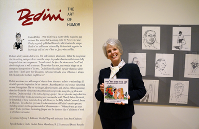 Ina Hillebrandt author of 'You Are Who You Eat' represents team at Cartoon Library & Museum Exhibit Honoring Illustrator Dedini